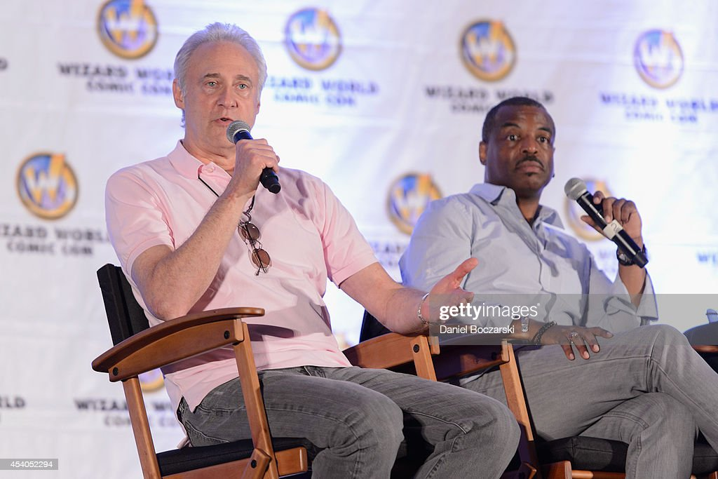 <a gi-track='captionPersonalityLinkClicked' href=/galleries/search?phrase=Brent+Spiner&family=editorial&specificpeople=602936 ng-click='$event.stopPropagation()'>Brent Spiner</a> and Levar Burton attends Wizard World Chicago Comic Con 2014 at Donald E. Stephens Convention Center on August 23, 2014 in Chicago, Illinois.