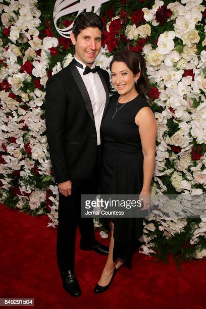 Brent Tworetzky and Randi Zuckerberg attend the American Theatre Wing Centennial Gala at Cipriani 42nd Street on September 18 2017