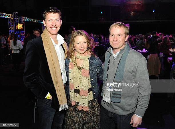 Brent Watson Katy Sine and Derek Mellus attend the Awards Night Ceremony Reception during the 2012 Sundance Film Festival at the Basin Recreation...