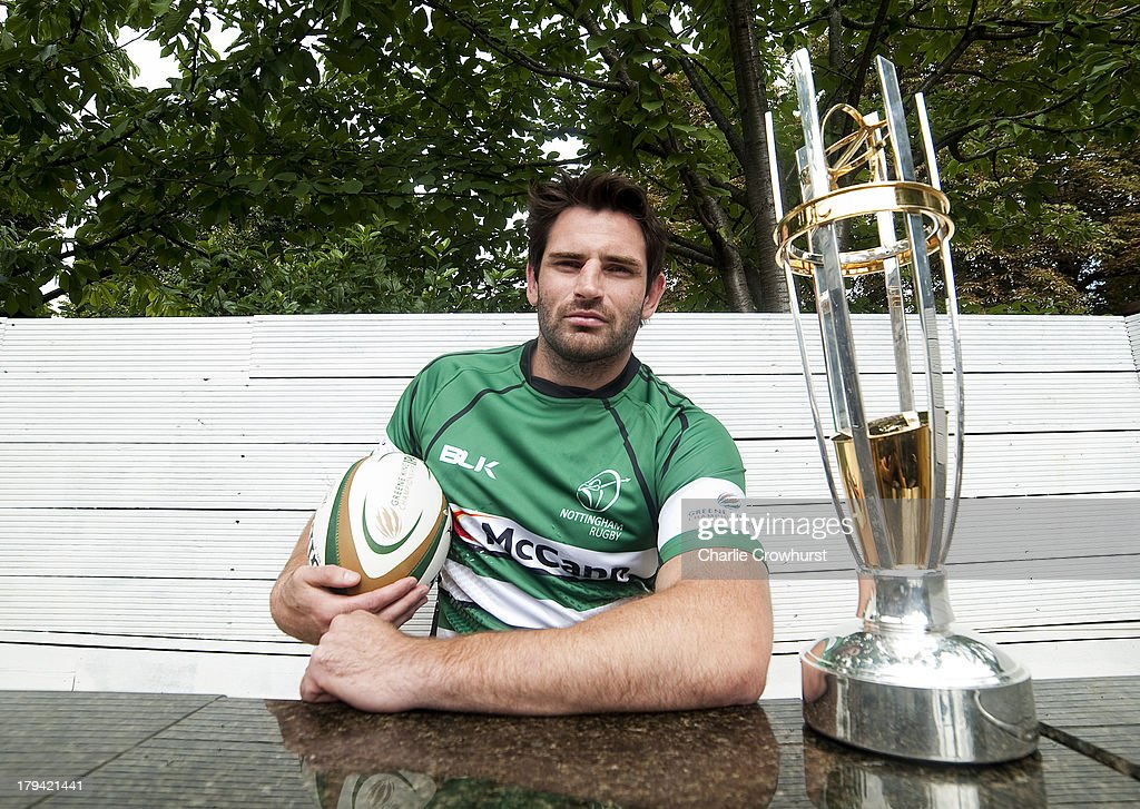 Brent Wilson of Nottingham RFC during the 2013/14 Greene King IPA Championship Launch at St Margarets Pub on September 03, 2013 in London, England.