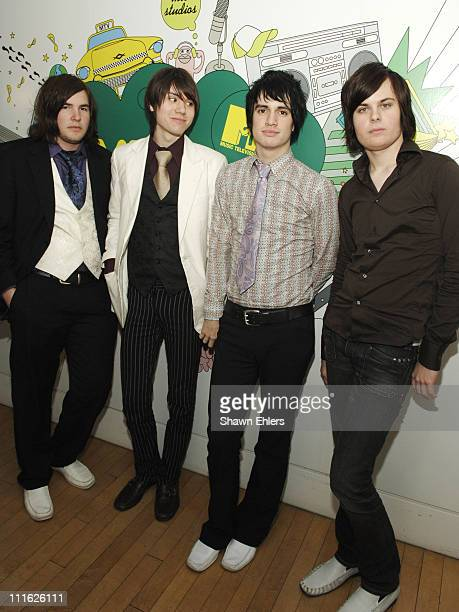 Brent Wilson Ryan Ross Brendon Urie and Spencer Smith from band 'Panic At the Disco'