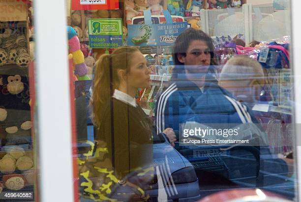 Brentford football player Jota Peleteiro and Jessica Bueno are seen on November 12 2014 in Seville Spain