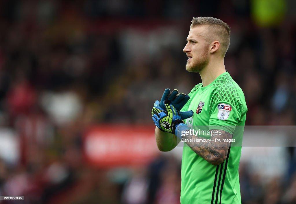 Brentford goalkeeper Daniel Bentley