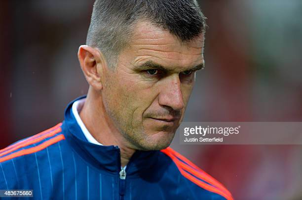 Brentford Manager Marinus Dijkhuizen looks ahead of the Capital One Cup First Round match between Brentford and Oxford United at Griffin Park on...