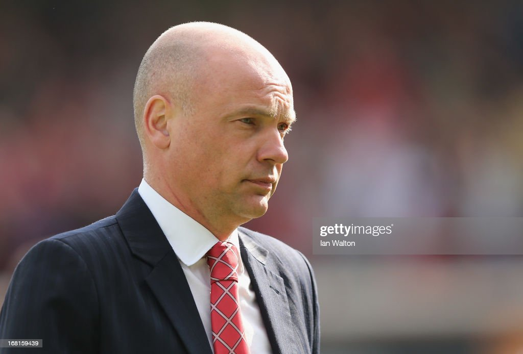 Brentford manager Uwe Rosler during the npower League One Play Off Semi Final, Second Leg match between Brentford and Swindon Town at Griffin Park on May 6, 2013 in Brentford, England.