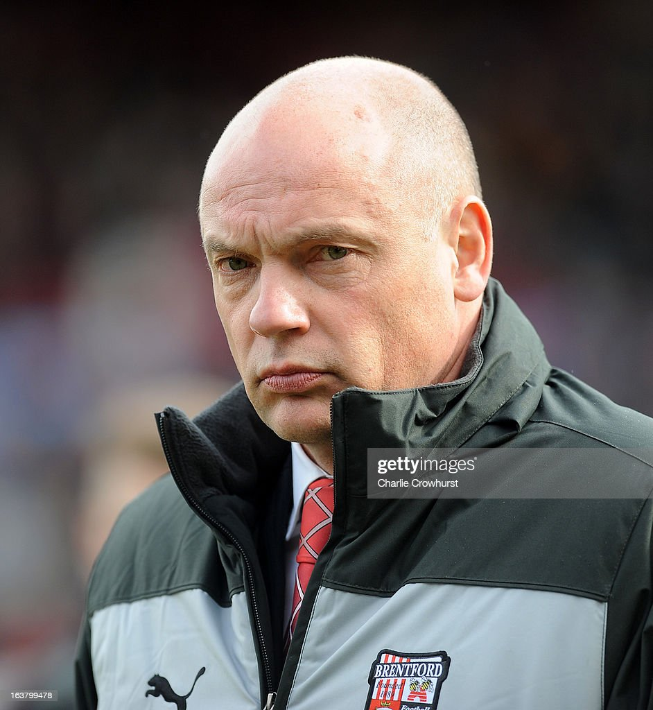 Brentford manager Uwe Rosler prior to the npower League One match between Brentford and Preston North End at Griffin Park on March 16, 2013 in London, England,