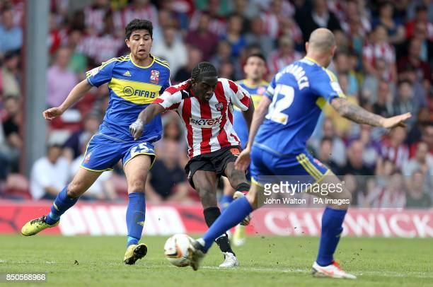 Brentford's Clayton Donaldson scores his teams second goal of the game