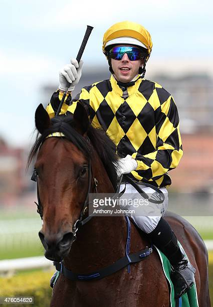 Brenton Avdulla returns on Spill The Beans after winning race 1 The Australian Jewellery Liquidators Plate during Sydney Racing at Royal Randwick...