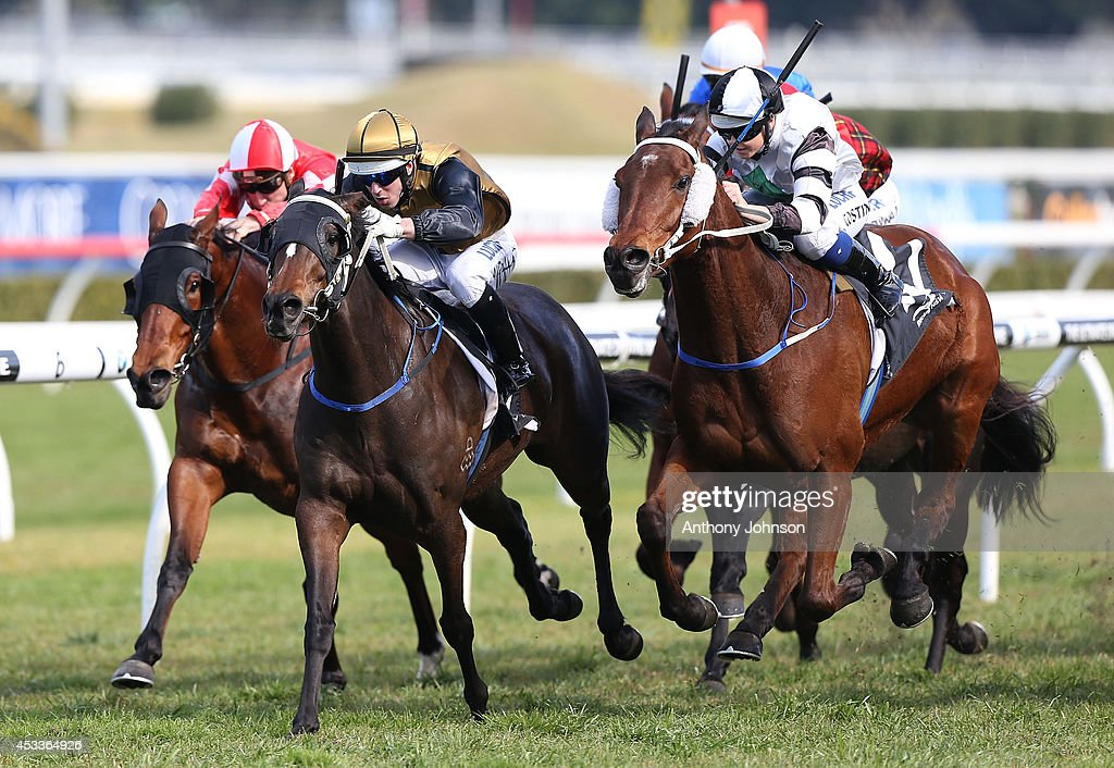 Brenton Avdulla (C) rides Bouzy Rouge during Sydney Racing at Royal Randwick Racecourse on August 9, 2014 in Sydney, Australia.