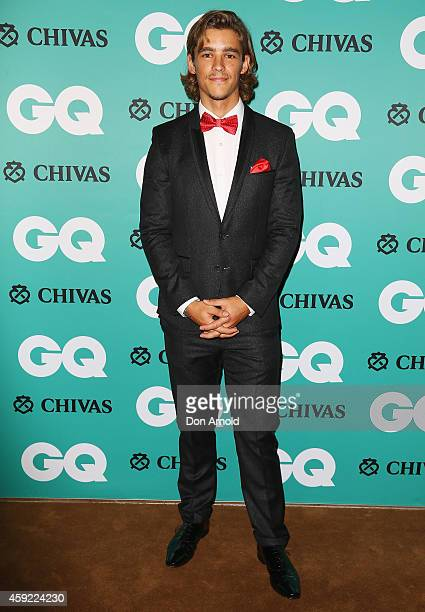 Brenton Thwaites arrives for the GQ Men Of The Year Awards 2014 at The Ivy on November 19 2014 in Sydney Australia