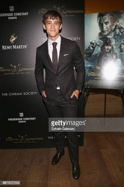Brenton Thwaites attends The Cinema Society with Remy Martin Frederique Constant host a screening of 'Pirates of the Caribbean Dead Men Tell No...