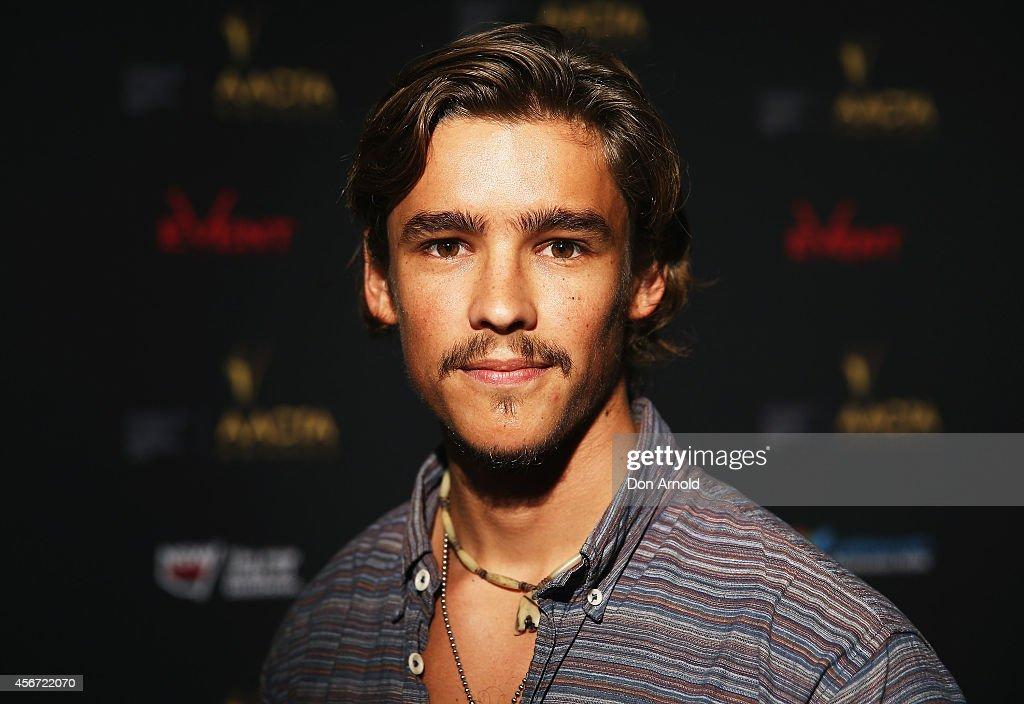Brenton Thwaites poses at the 4th ACCTA Awards opening night at Event Cinemas Bondi Junction on October 6 2014 in Sydney Australia