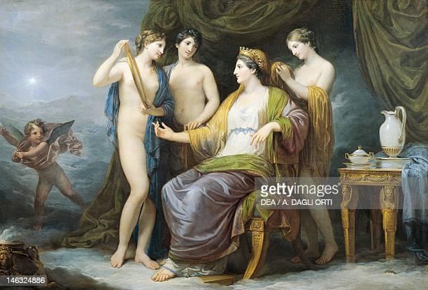 Brescia Pinacoteca TosioMartinengo The Juno bathing or Juno attired by the Graces by Andrea Appiani oil on canvas 100x142 cm