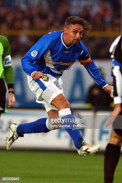 Brescia's Roberto Baggio in action