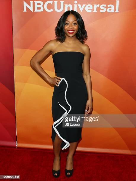 Bresha Webb attends the 2017 NBCUniversal Summer Press Day on March 20 2017 in Beverly Hills California