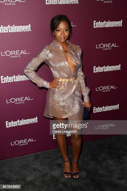 Bresha Webb attends the Entertainment Weekly's 2017 PreEmmy Party at the Sunset Tower Hotel on September 15 2017 in West Hollywood California