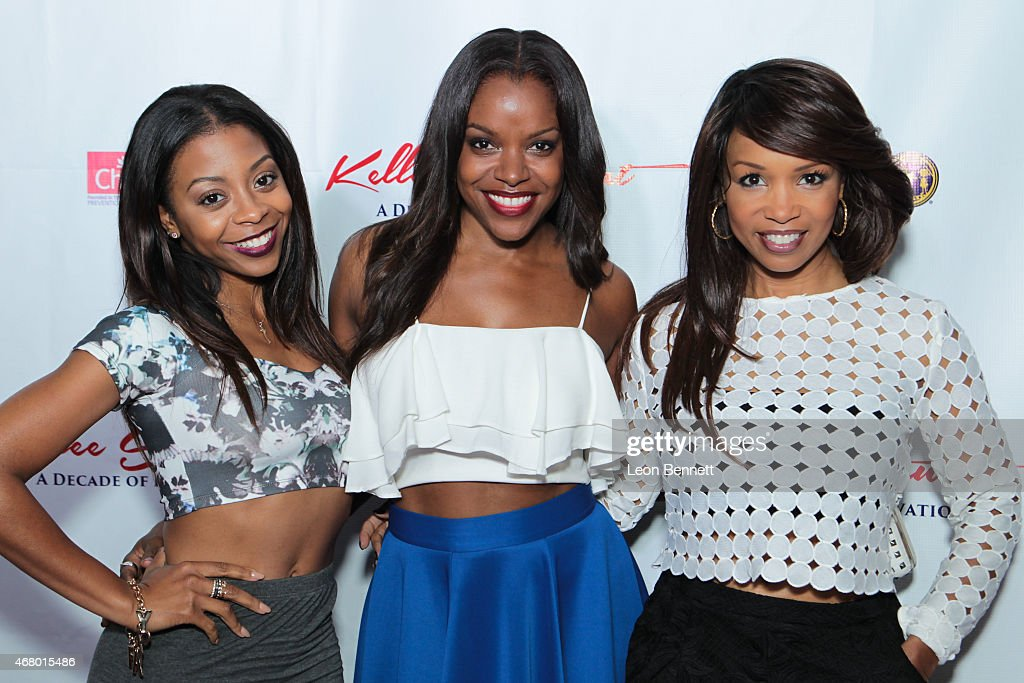 Bresha Webb Nadine Ellis and Elise Neal attended the Kellee Stewart Birthday Party With A Purpose For Her Favorite Charities ChildHelp And Kids In...