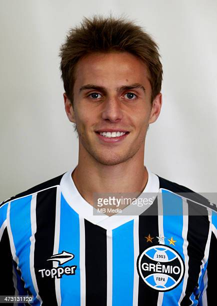 Bressan of Gremio FootBall Porto Alegrense poses during a portrait session on August 14 2014 in Porto AlegreBrazil