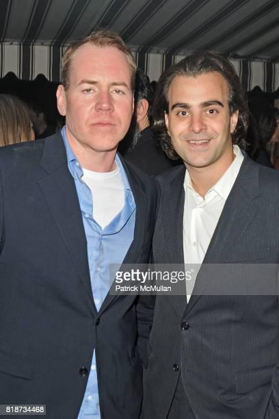 Bret Easton Ellis and Nicholas Jarecki attend Bret Easton Ellis to celebrate the publication of his new novel IMPERIAL BEDROOMS at Penthouse on June...