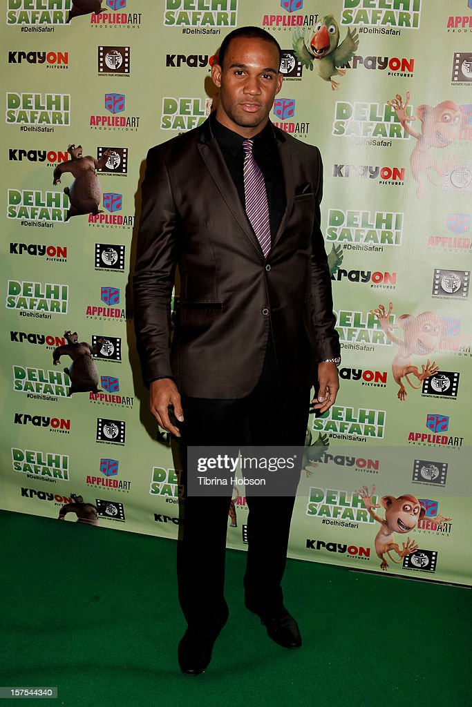 Bret Lockett attends the Delhi Safari Los Angeles premiere at Pacific Theatre at The Grove on December 3, 2012 in Los Angeles, California.