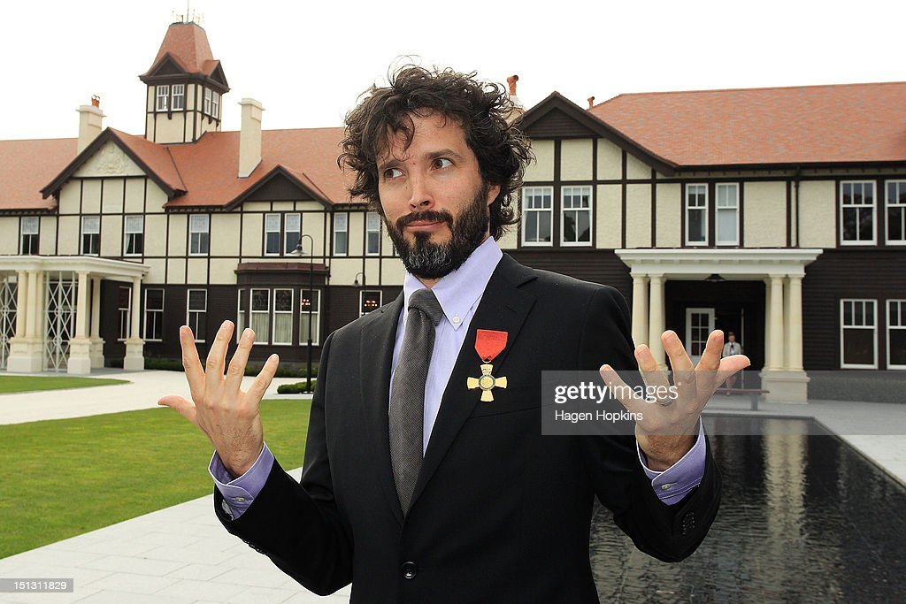 Bret McKenzie poses after receiving the Insignia of the Queen's Service Order during the Governor General's biennial Investiture Ceremonies held for recipients of the New Year and Queen's Birthday honours at Government House on September 6, 2012 in Wellington, New Zealand.