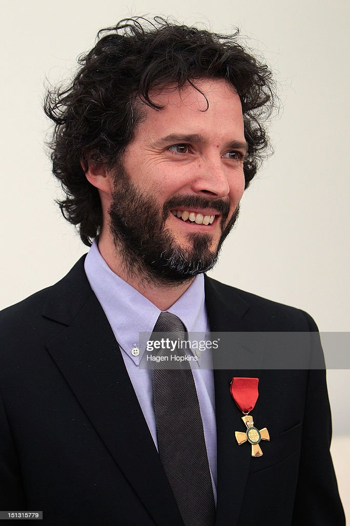 Bret McKenzie speaks to media after receiving the Insignia of the Queen's Service Order during the Governor General's bienniel Investiture Ceremonies held for recipients of the New Year and Queen's Birthday honours at Government House on September 6, 2012 in Wellington, New Zealand.