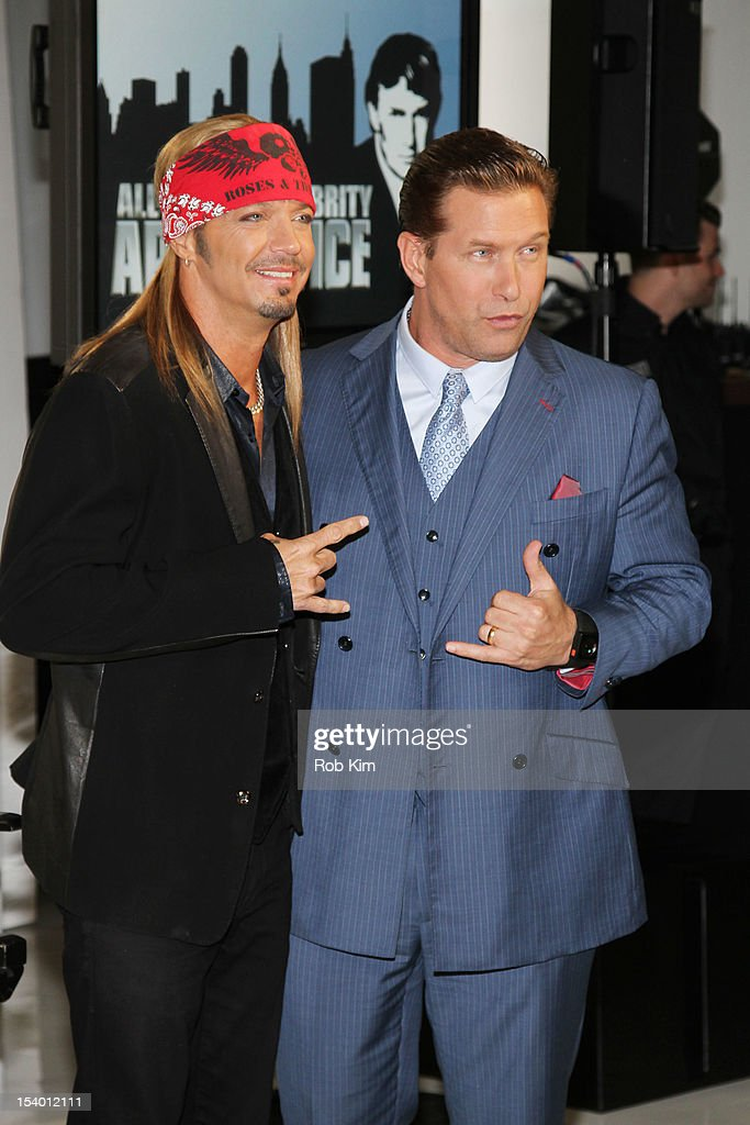 Bret Michaels (L) and <a gi-track='captionPersonalityLinkClicked' href=/galleries/search?phrase=Stephen+Baldwin&family=editorial&specificpeople=213776 ng-click='$event.stopPropagation()'>Stephen Baldwin</a> attend the 'Celebrity Apprentice All Stars' Season 13 Press Conference at Jack Studios on October 12, 2012 in New York City.