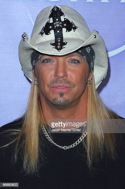 Bret Michaels arrives at NBC Universal's Press Tour Cocktail Party at Langham Hotel on January 10 2010 in Pasadena California