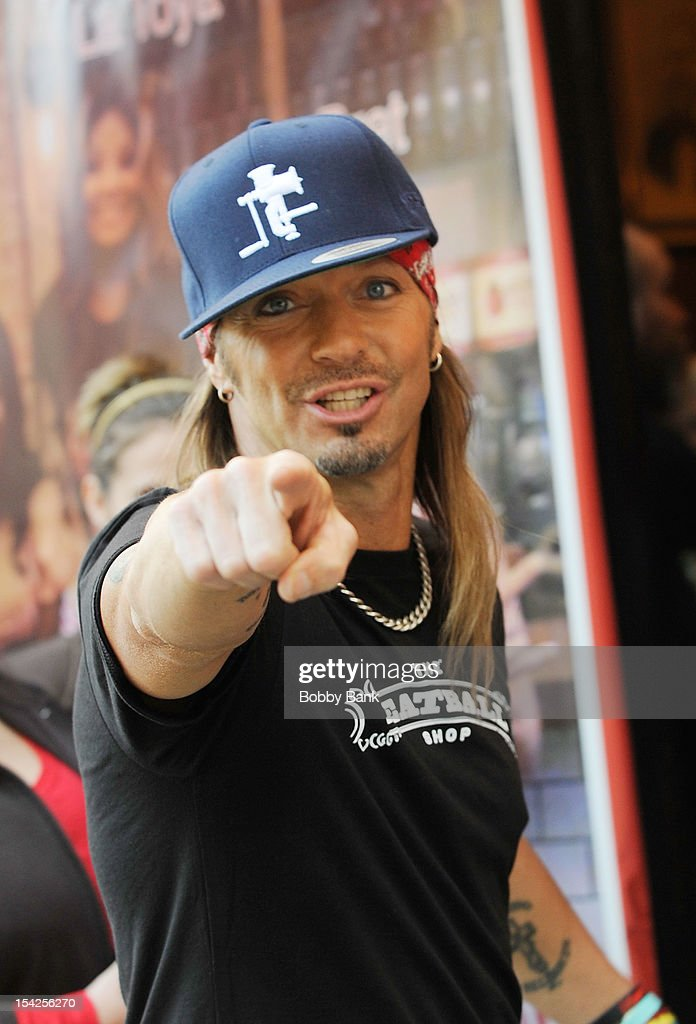 <a gi-track='captionPersonalityLinkClicked' href=/galleries/search?phrase=Bret+Michaels&family=editorial&specificpeople=1150752 ng-click='$event.stopPropagation()'>Bret Michaels</a> filming on location for 'Celebrity Apprentice All Stars' on October 16, 2012 in New York City.