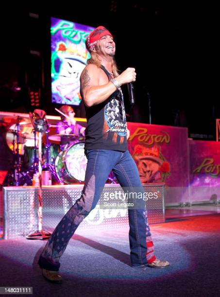 Bret Michaels of Poison performs at DTE Energy Center on July 7 2012 in Clarkston Michigan