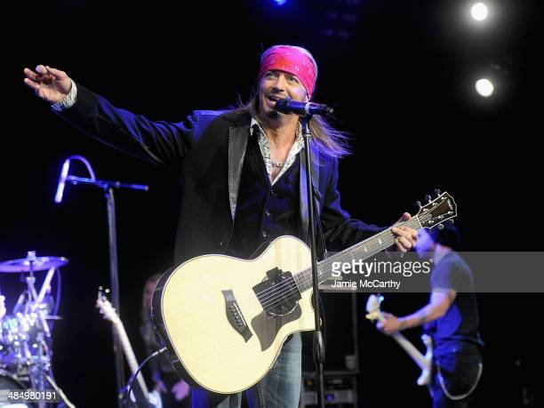 Bret Michaels performs at the Sing For Your Supper Campaign Launch at Hard Rock Cafe New York on April 15 2014 in New York City
