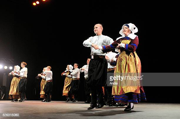 Breton dance group attending the Breton Dance Championship organized by the association 'Kendalc'h' Brug Ar menez Celtic circle dance group from...
