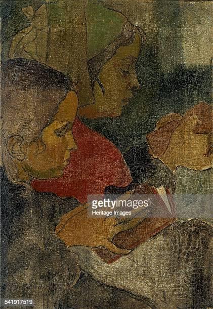 Breton peasant women at mass' 1890s Artist Armand Seguin
