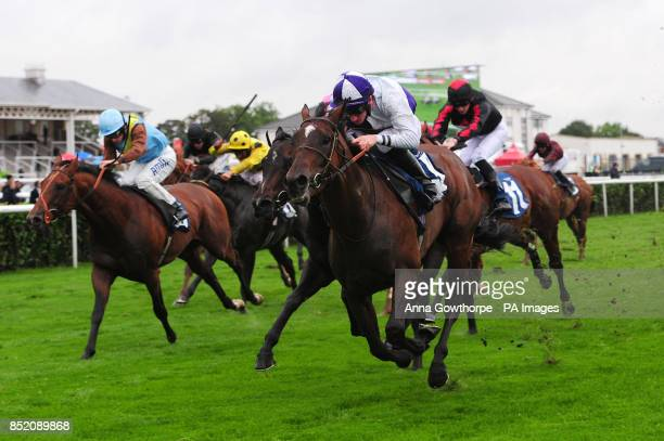 Breton Rock ridden by Martin Lane wins the Beauty at Doncaster Handicap Stakes during the Crown Hotel At Bawtry Opening Day of the Ladbrokes St Leger...
