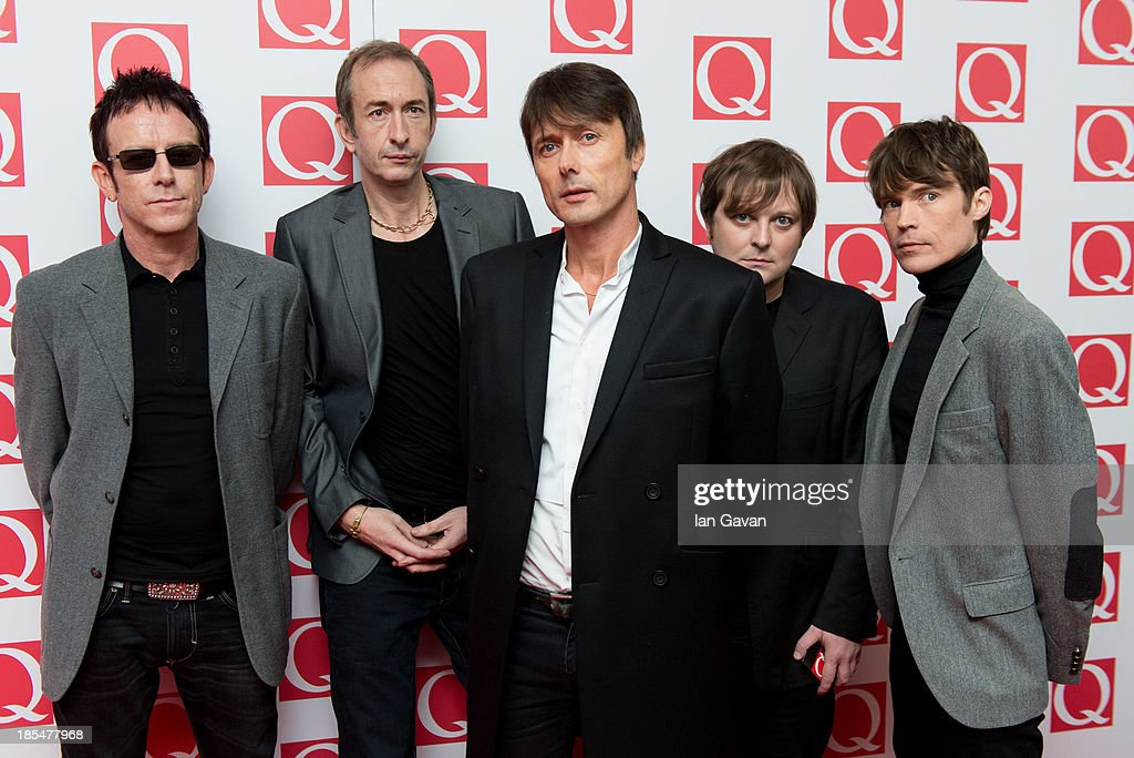 Brett Anderson (C) and Suede attends The Q Awards at The Grosvenor House Hotel on October 21, 2013 in London, England.