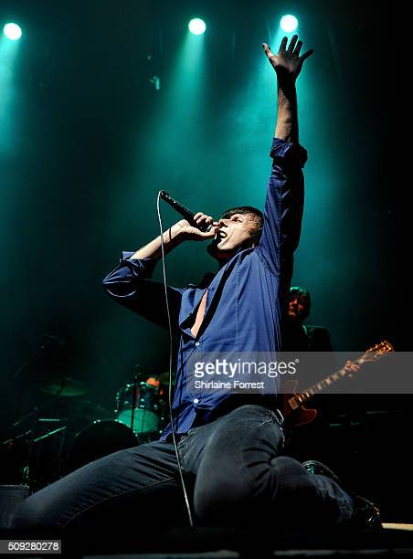 Brett Anderson of Suede performs at Albert Hall on February 9 2016 in Manchester England