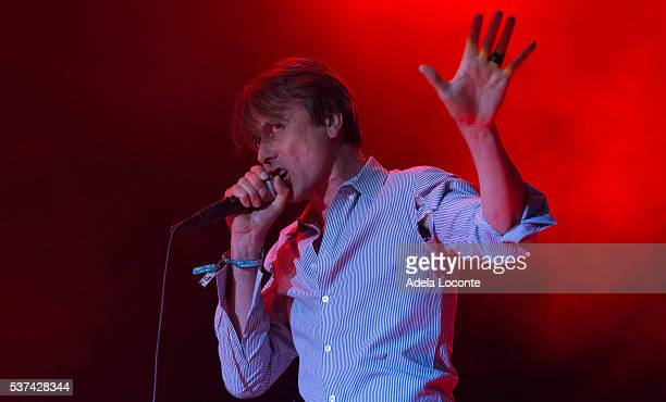 Brett Anderson of Suede performs at Primavera Sound opening day on June 1 2016 in Barcelona Spain