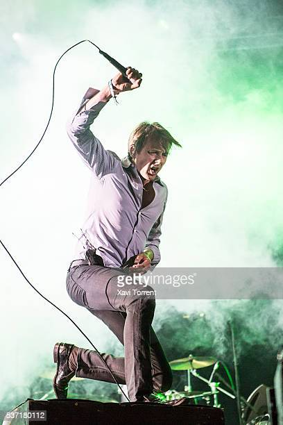 Brett Anderson of Suede performs in concert during day 1 of Primavera Sound 2016 on June 1 2016 in Barcelona Spain
