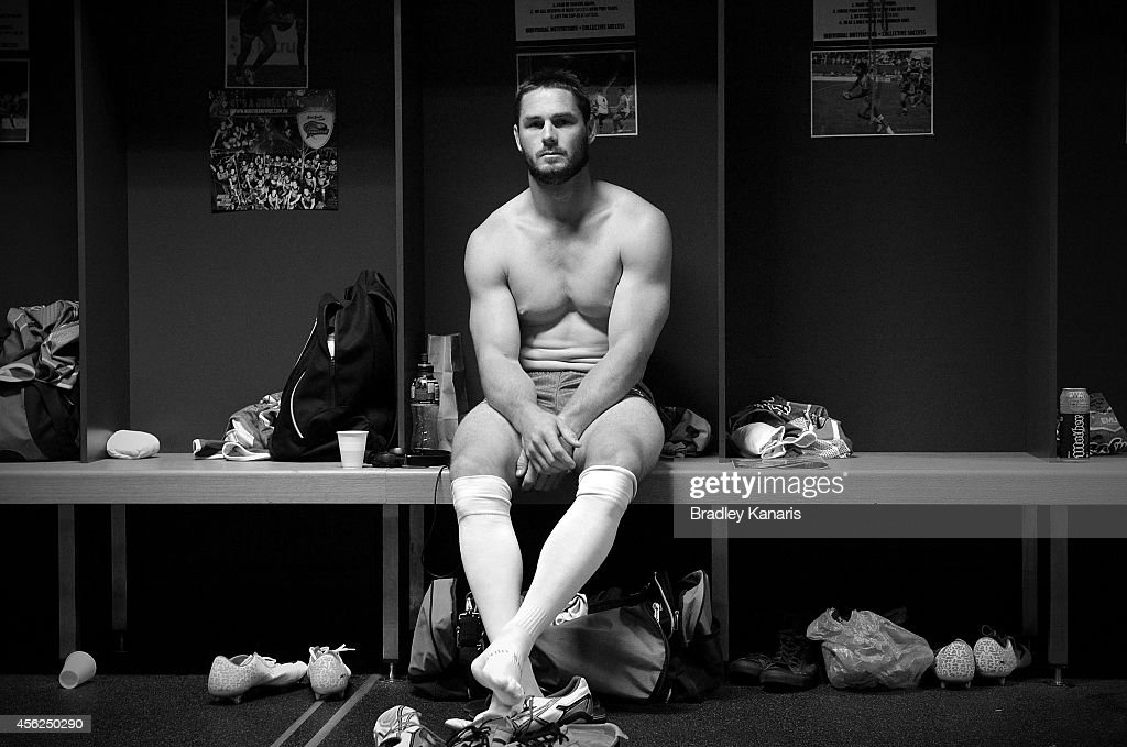 Brett Anderson of the Pride gets prepared before the Intrust Super Cup Grand Final match between Northern Pride and Easts Tigers at Suncorp Stadium on September 28, 2014 in Brisbane, Australia.