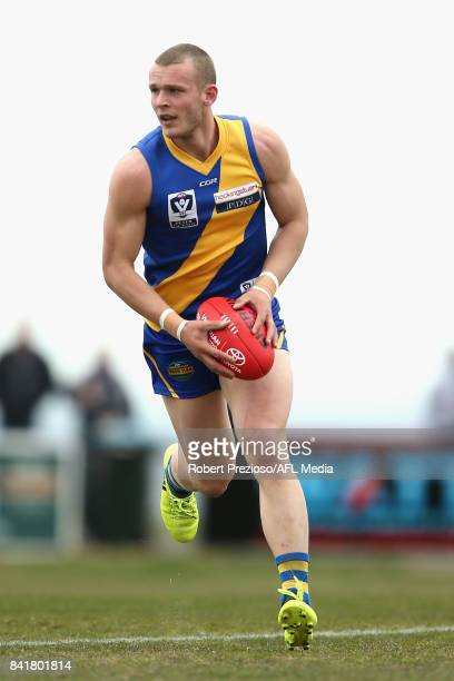 Brett Bewley of Williamstown runs during the VFL Qualifying Final match between Williamstown and Casey at Burbank Oval on September 2 2017 in...