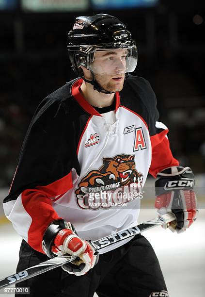 Brett Connolly of the Prince George Cougars skates against the Kelowna Rockets at Prospera Place on March 13 2010 in Kelowna Canada