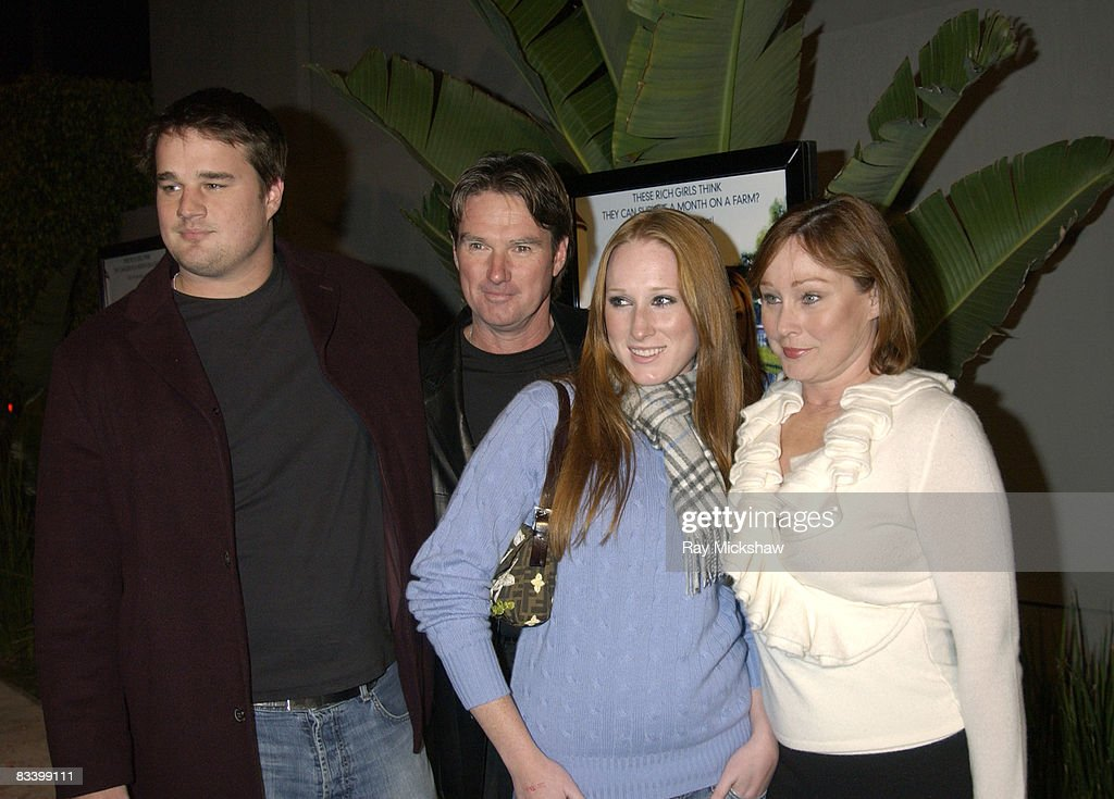 Brett Connors, Jimmy Connors, Aubrey Connors and Patti Connors
