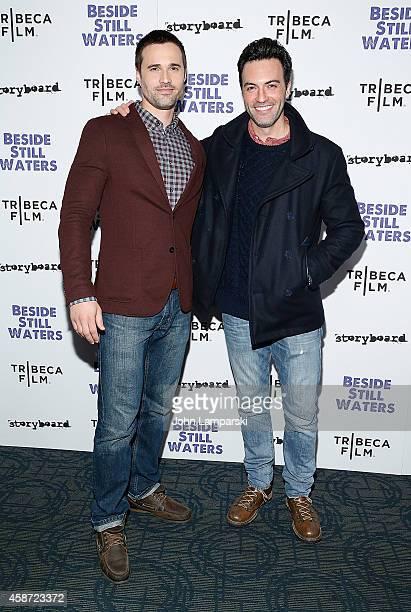 Brett Dalton and Reid Scott attends 'Besides Still Waters' New York Premiere at Sunshine Landmark on November 9 2014 in New York City