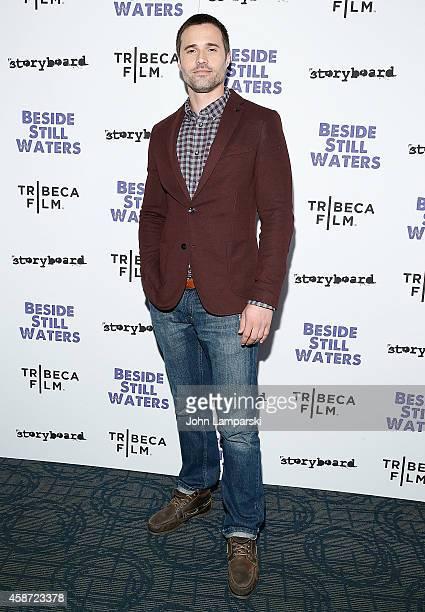 Brett Dalton attends 'Besides Still Waters' New York Premiere at Sunshine Landmark on November 9 2014 in New York City