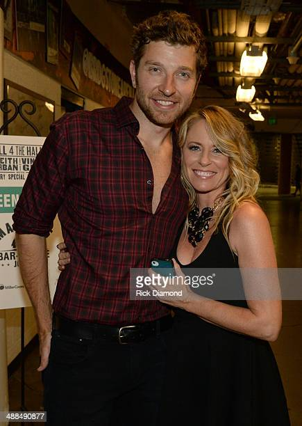 Brett Eldredge and Deana Carter attend Keith Urban's Fifth Annual 'We're All 4 The Hall' Benefit Concert at the Bridgestone Arena on May 6 2014 in...