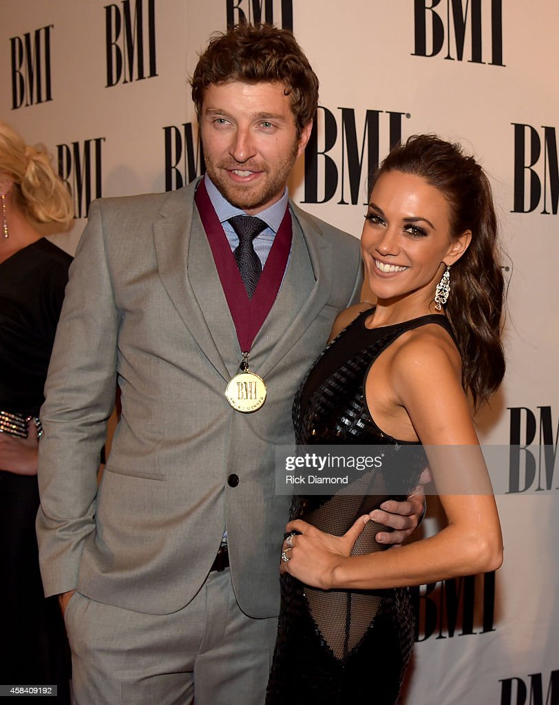 Brett Eldredge and Jana Kramer attend the BMI 2014 Country Awards at BMI on November 4 2014 in Nashville Tennessee