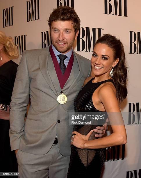 Brett Eldredge and Jana Kramer attend the BMI 2014 Country Awards at BMI on November 4 2014 in Nashville Tennessee