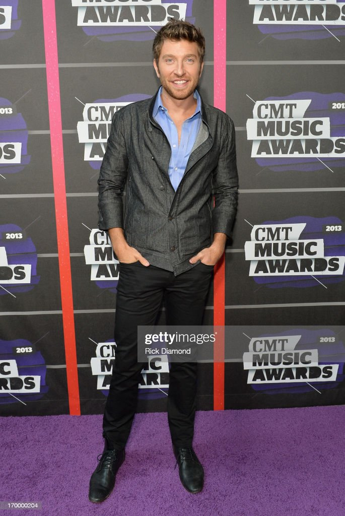 <a gi-track='captionPersonalityLinkClicked' href=/galleries/search?phrase=Brett+Eldredge&family=editorial&specificpeople=7334271 ng-click='$event.stopPropagation()'>Brett Eldredge</a> attends the 2013 CMT Music awards at the Bridgestone Arena on June 5, 2013 in Nashville, Tennessee.