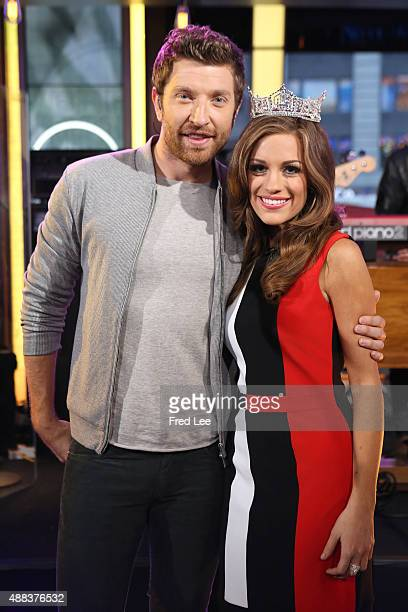 AMERICA Brett Eldredge performs live on 'Good Morning America' 9/15/15 airing on the ABC Television Network