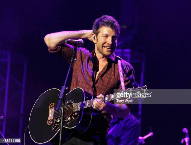 Brett Eldredge performs on stage during Keith Urban's Fifth Annual 'We're All 4 The Hall' Benefit Concert at the Bridgestone Arena on May 6 2014 in...